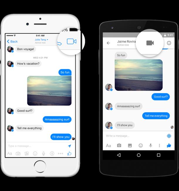 видео разговори по фейсбук