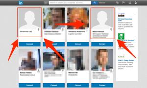 бизнес снимка в linkedIn